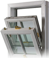 A double glazed sash & tilt window