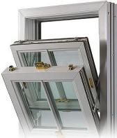 A double glazed sash & tilt window